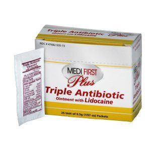 Medi First Plus Triple Antibiotic Lidocaine